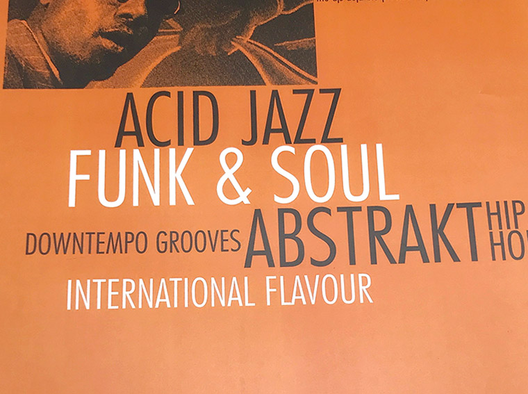 dj event poster, mark wisz, dejablu, acid jazz