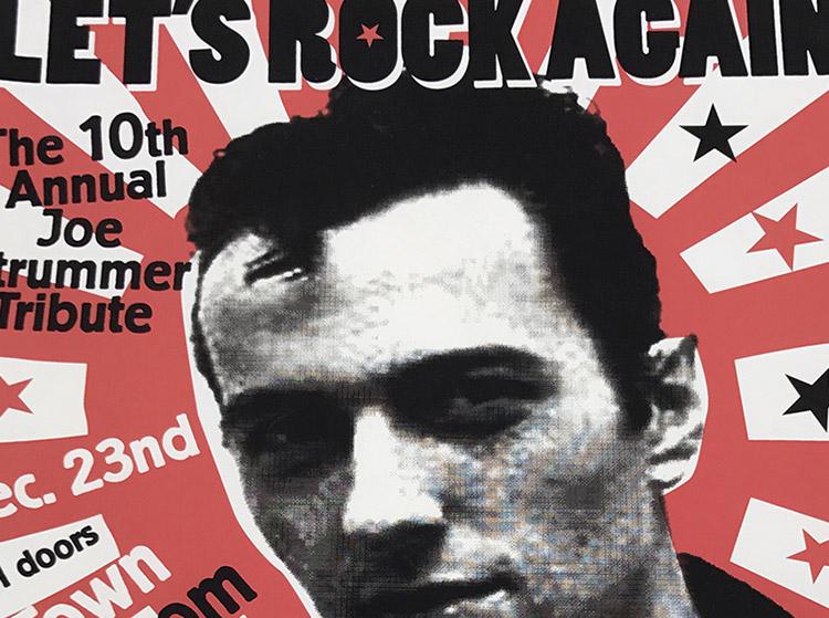 joe strummer, clask, tribute, event, rock band, poster design, homage, Strummerville, buffalo, Ny poster design, mark wisz