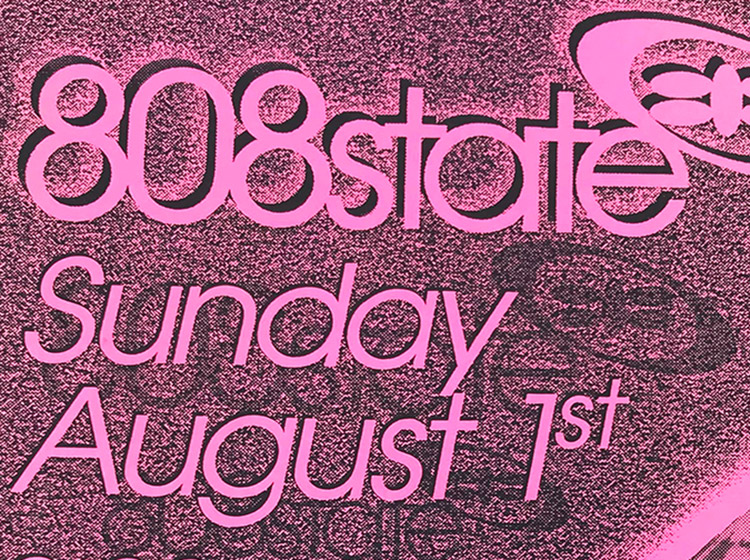 1993, 808 state, concert poster, ICOn, buffalo ny, mark wisz