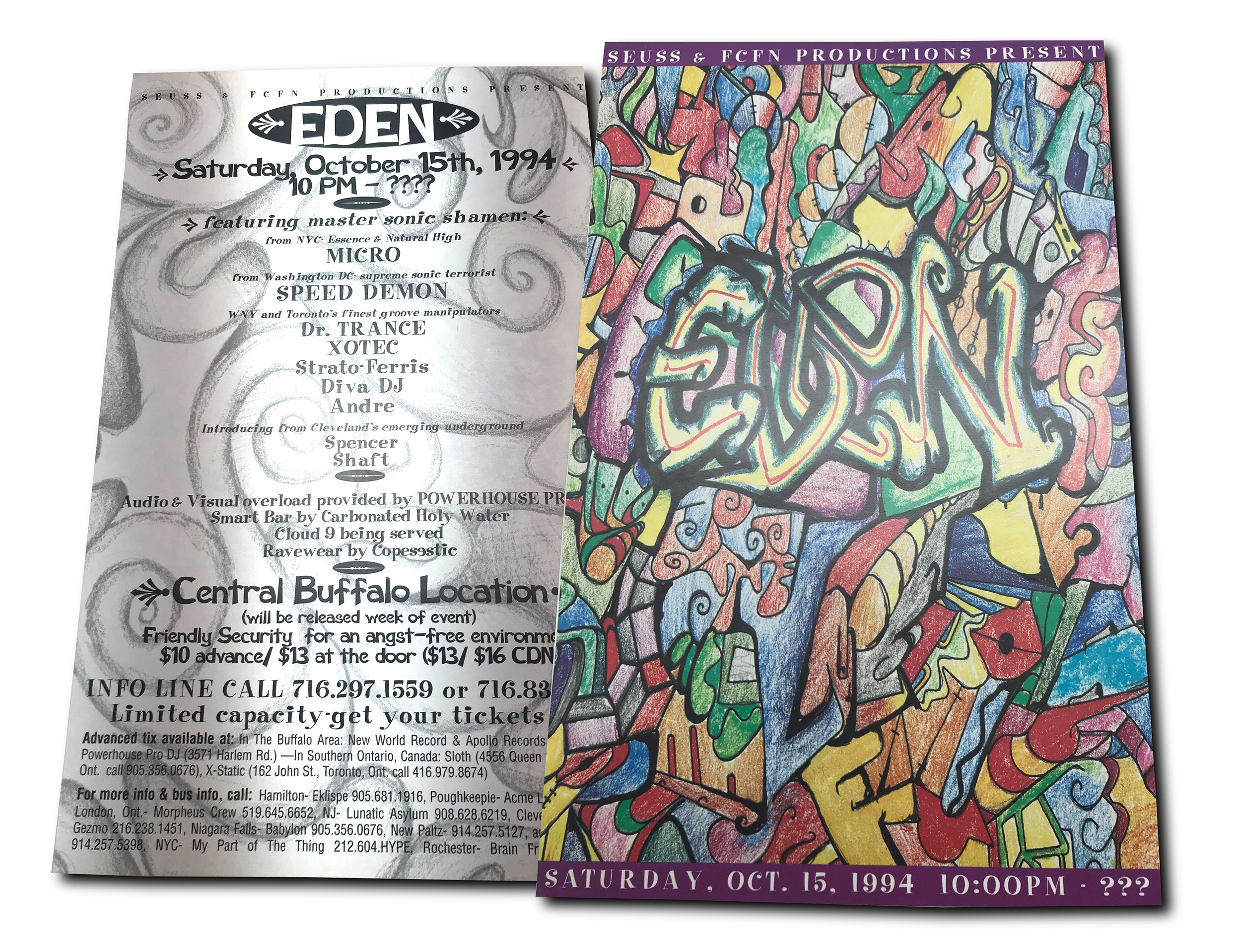 Eden, rave, buffalo NY, poster design, flyer design, mark wisz