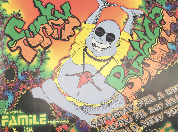 funky buddha, DJ party, rave, buffalo ny, flyer design, poster design, mark wisz