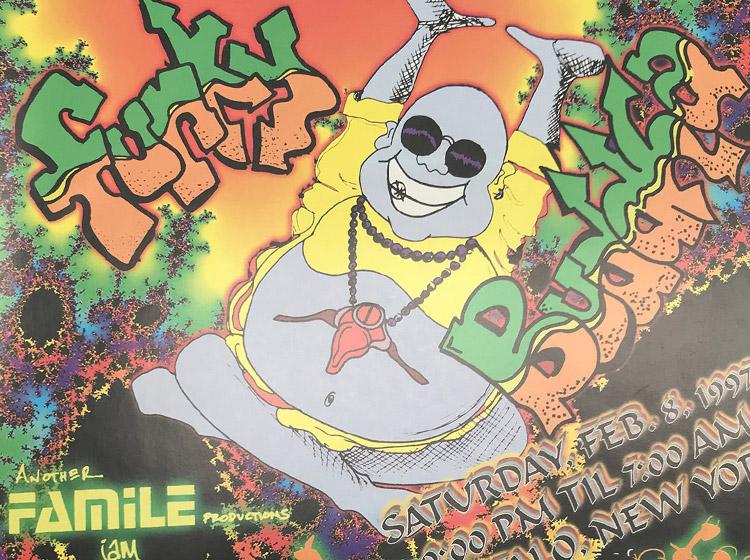 funky buddha, DJ party, rave, buffalo ny, flyer design, poster design, mark wisz