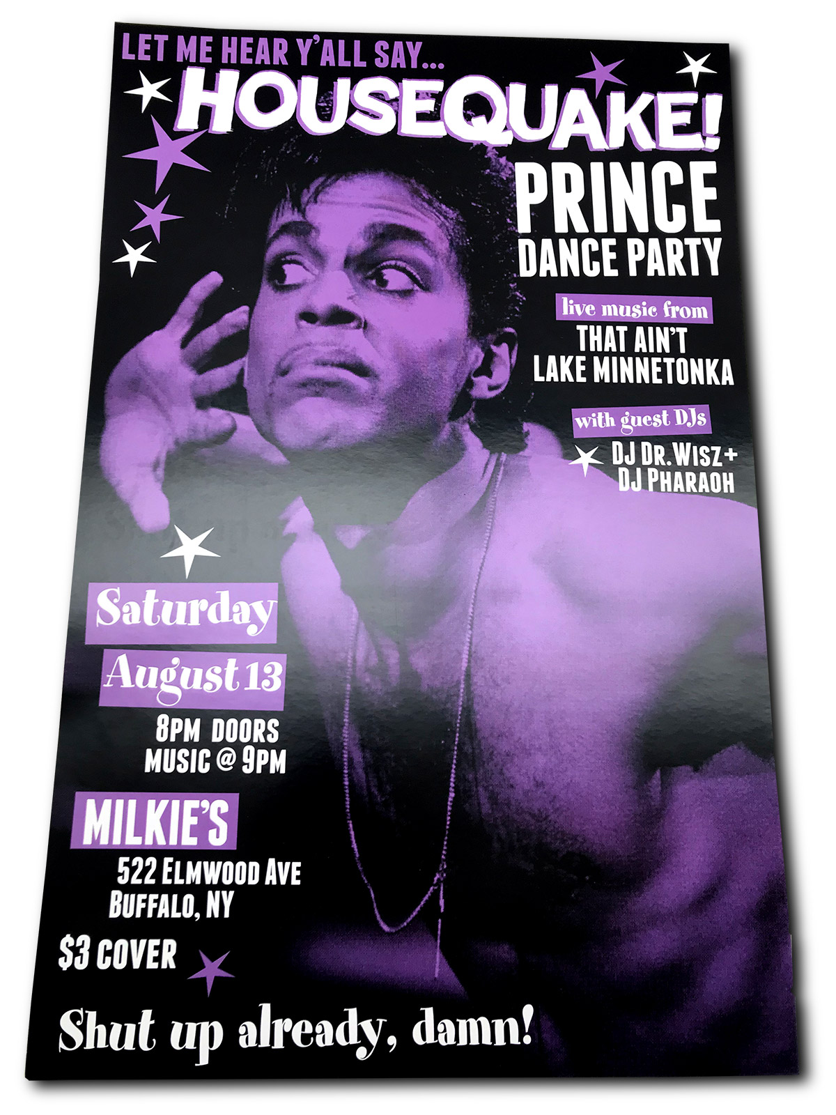 House quake, Prince tribute night, Prince dance party, this ain't lake minnetonka, DJ Dr. Wisz, DJ Pharaoh, Buffalo NY
