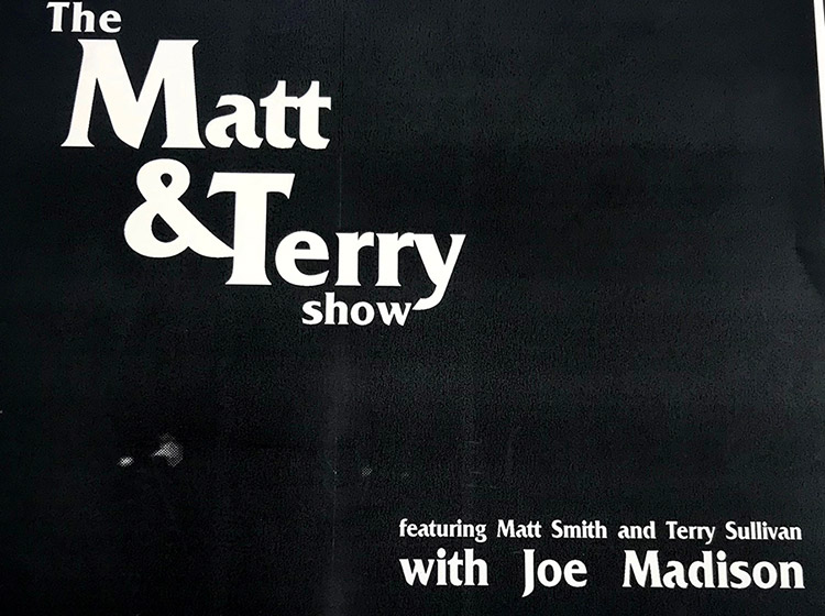 Matt and Terry show, terry sullivan, matt smith, calumet arts cafe, buffalo ny, poster design, mark wisz, rock poster design