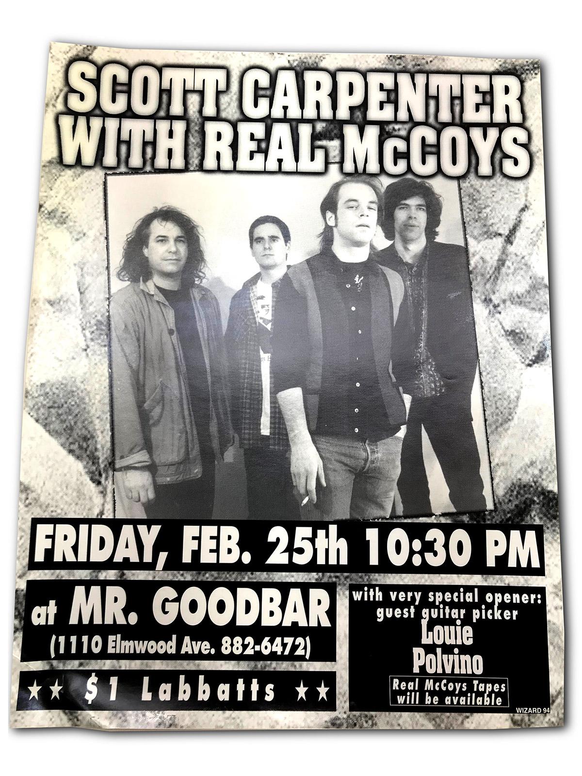 scott carpenter, real McCoys, matt smith, buffalo, ny, rock poster, Mr goodbars