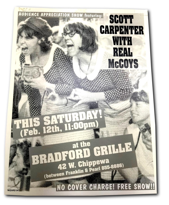 scott caprpenter & real McCoys, rock poster design, mark wisz, matt smith