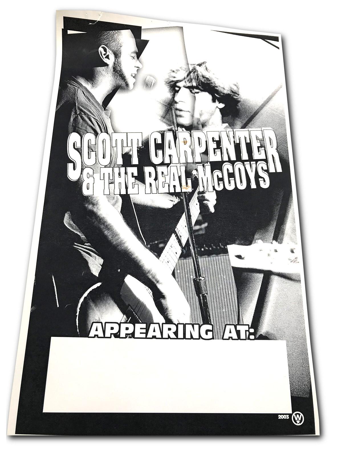 scott carpenter and the real mccoy, 2003, rock poster, poster design, buffalo, ny, mark wisz