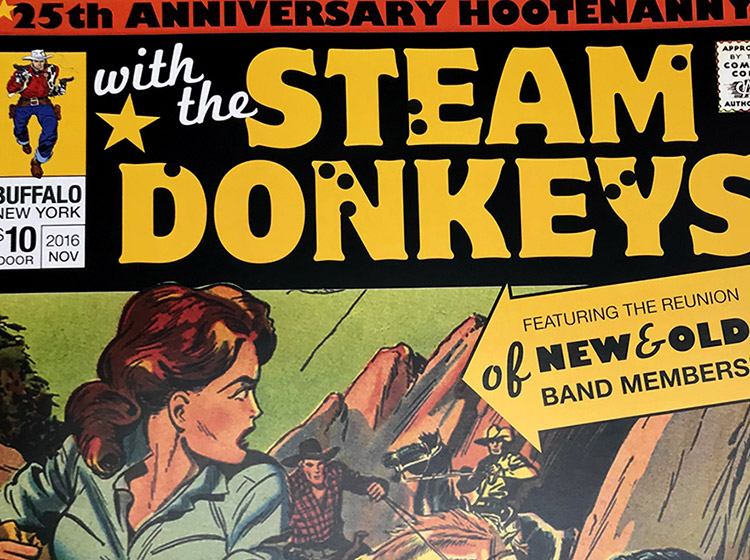 Steam Donkeys, sportsmen's tavern, buffalo, ny, rock poster, mark wisz, design, graphic design, poster design