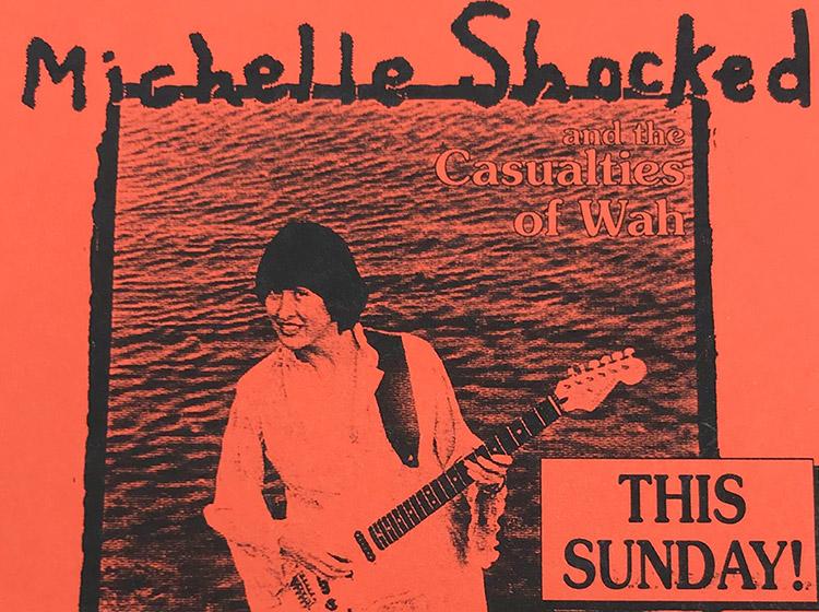 Michelle Shocked, rock poster, ICON, buffalo, NY, mark wisz, 1993