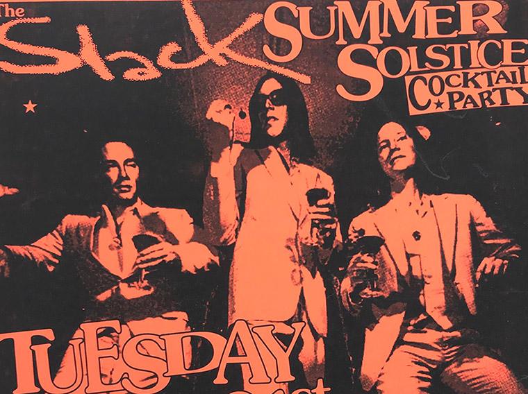 Slack magazine, Buffalo NY, summer solstice party, poster, Third Room, 1994
