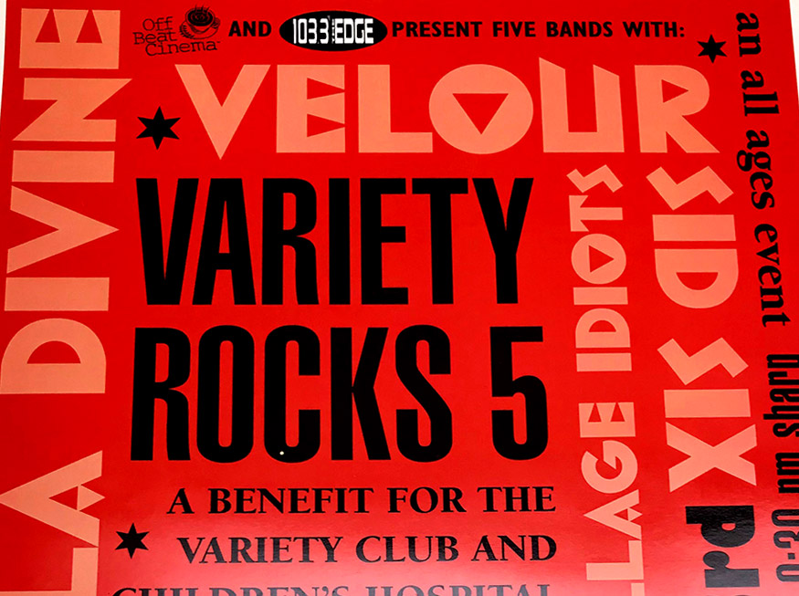 variety rocks, buffalo, ny, poster design, showplace theater, buffalo, ny, mark wisz, rock poster design