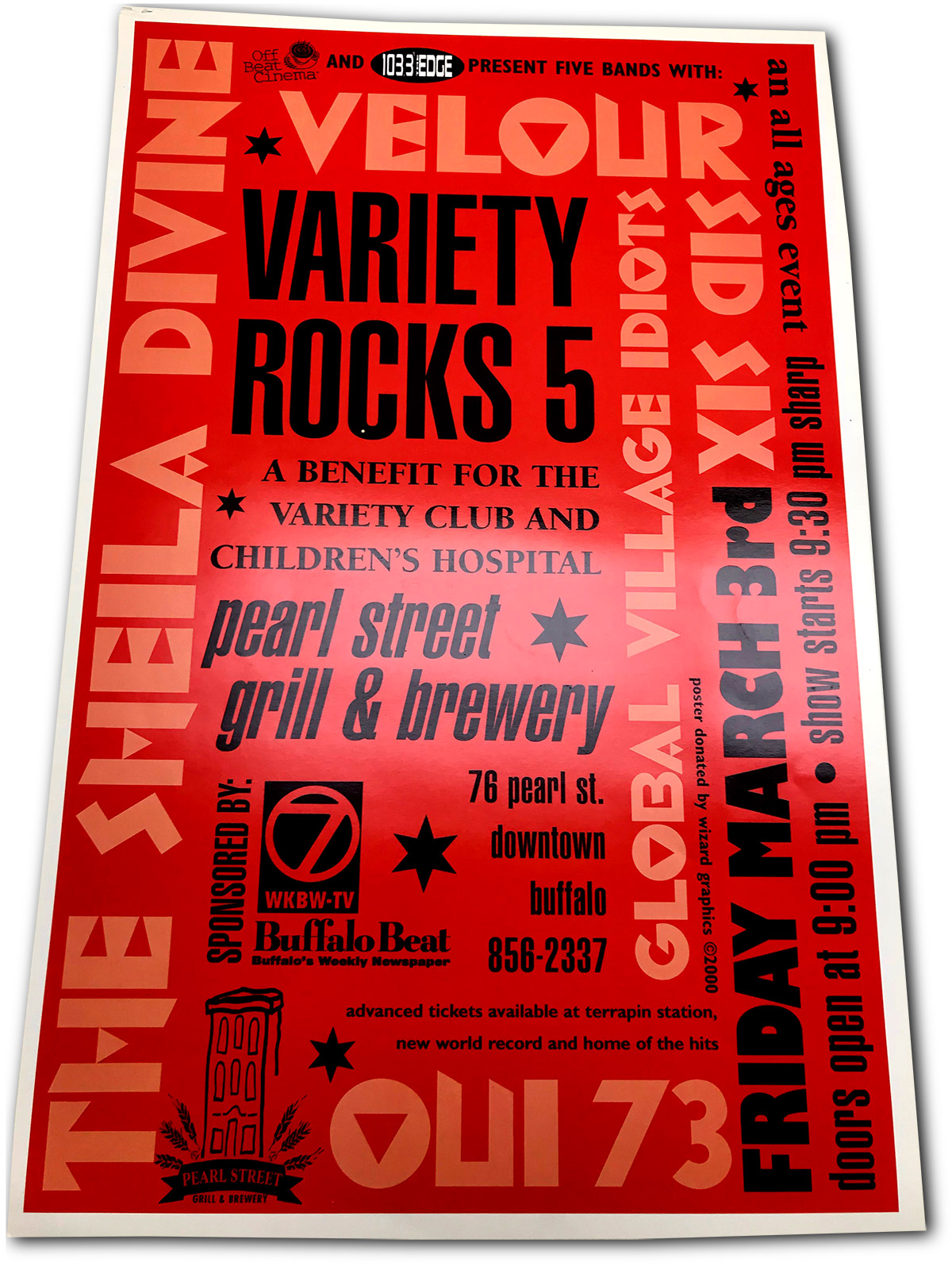 variety rocks, buffalo, ny, poster design, showplace theater, buffalo, ny, mark wisz, rock poster design