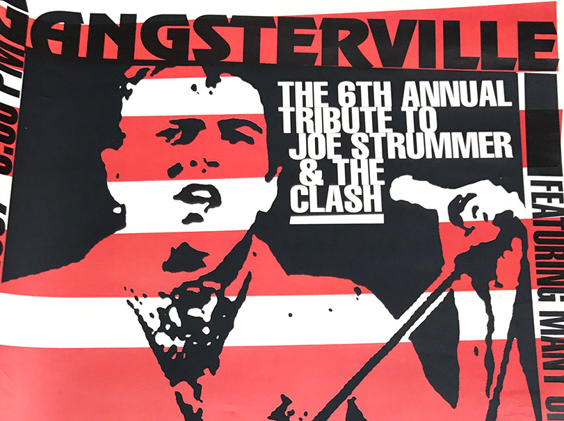 joes strummer tribute, clash, rock poster, buffalo ny, poster design, mark wisz, mohawk place