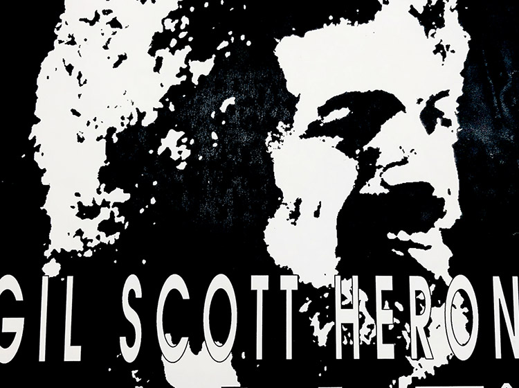 Gil Scott Heron, INCO, Buffalo NY, poster design, buffalo, NY, mark wisz