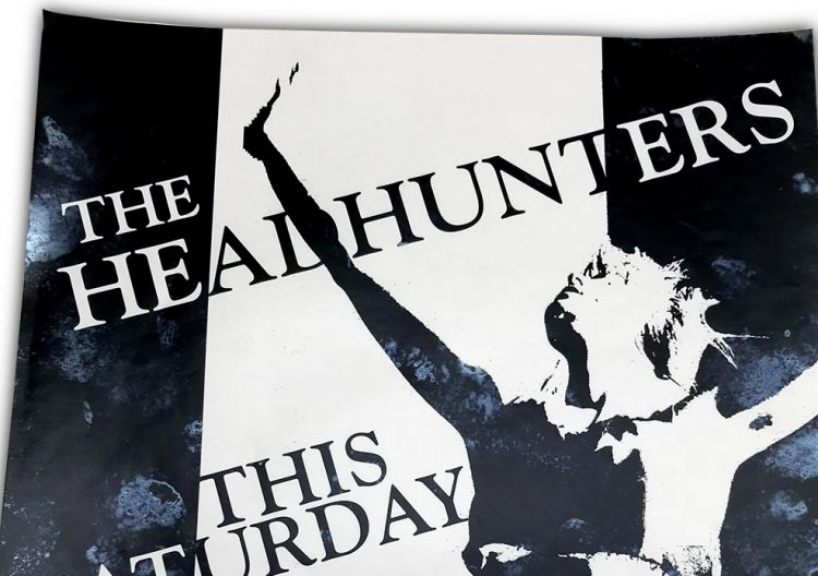 the headhunters, icon, buffalo ny, rock poster design, 1991, terry sullivan