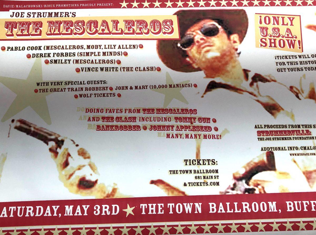 mescaleros, buffalo ny, concert poster, rock poster, concert that didn't happen, town ballroom, mark wisz, los mondo bondos