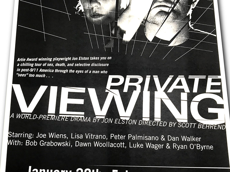 private viewing, theatre poster design, buffalo, ny, mark wisz