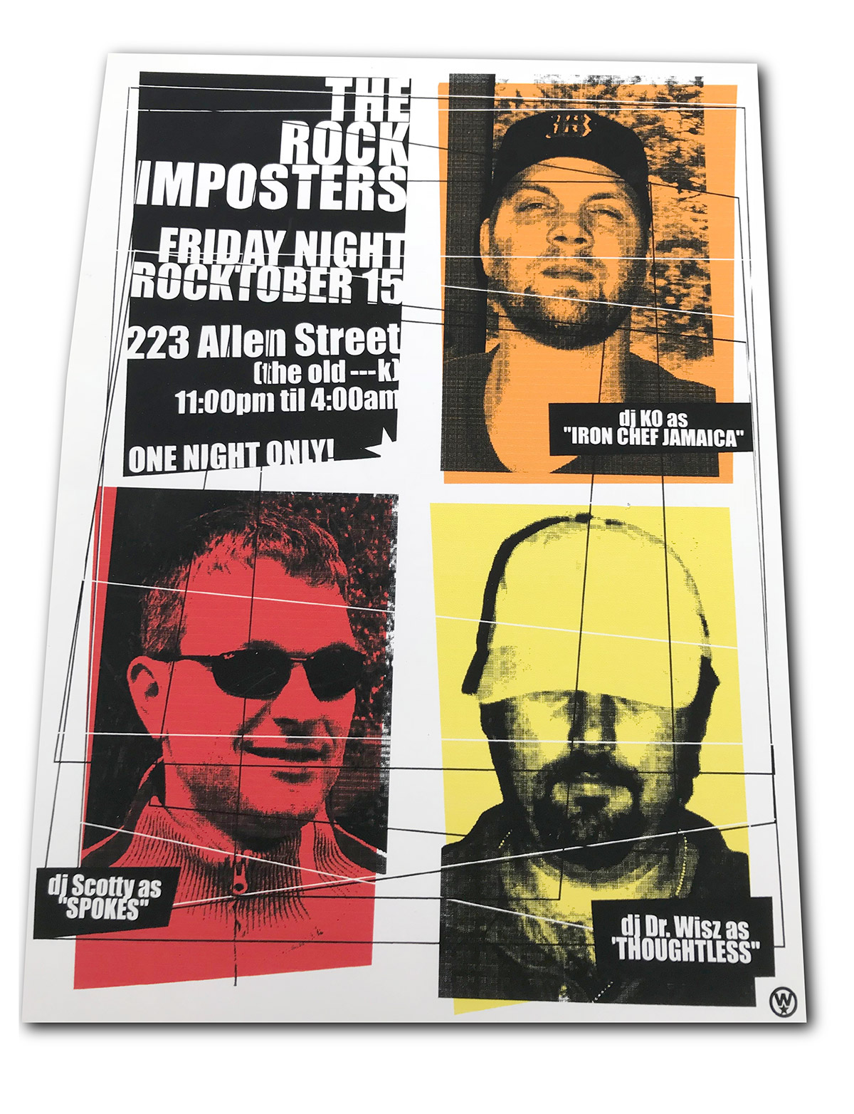 rock imposters, rock poster, poster design, dr. wisz, mark wisz, graphic design, buffalo, ny, old pink