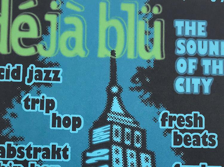 dejablu, deja blu, the sound of the city, DJ Dr Wisz, DJ Scotty, Kingsnake lounge, buffalo ny, mark wisz, poster design