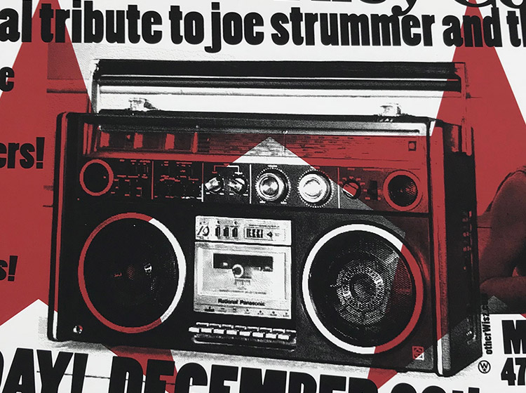 strummer tribute, clash, buffalo ny, mohawk place, mark wisz, poster design
