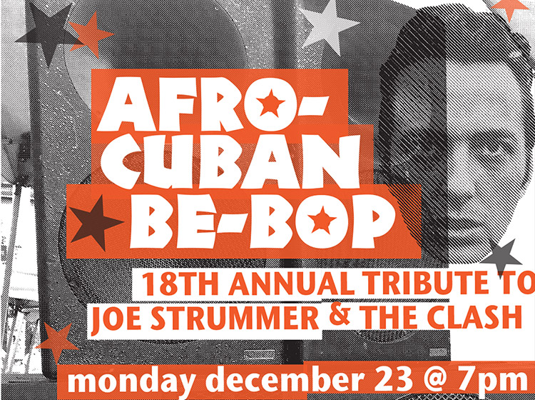 Joe Strummer, The Clash, Strummerville, benefit concert, buffalo ny, clash city rockers, poster design, mark wisz, rock poster